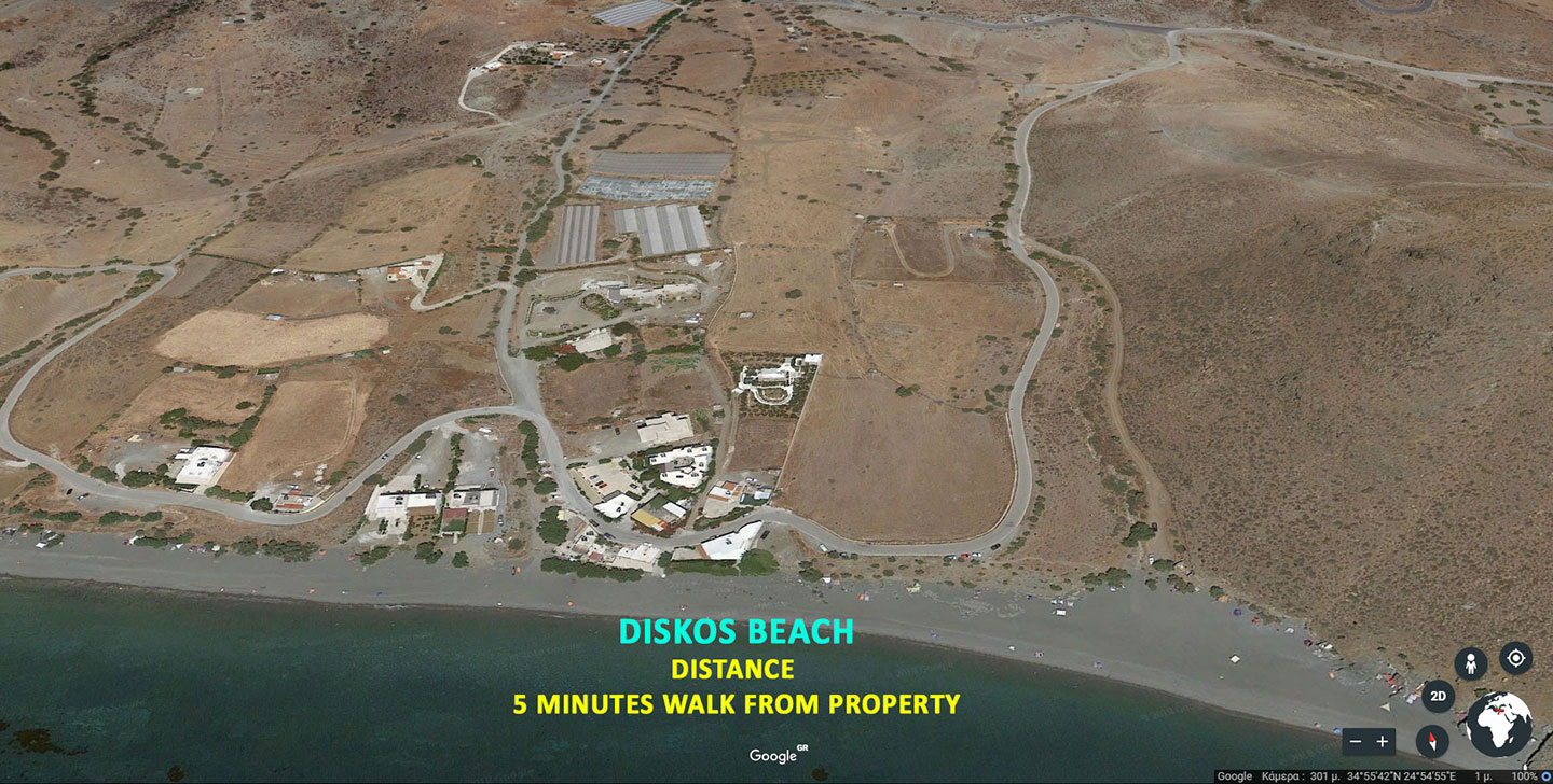 Diskos beach in Lenta village south Crete