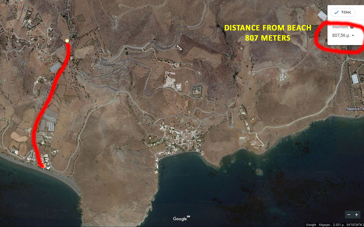 plot for sale at lentas village Crete