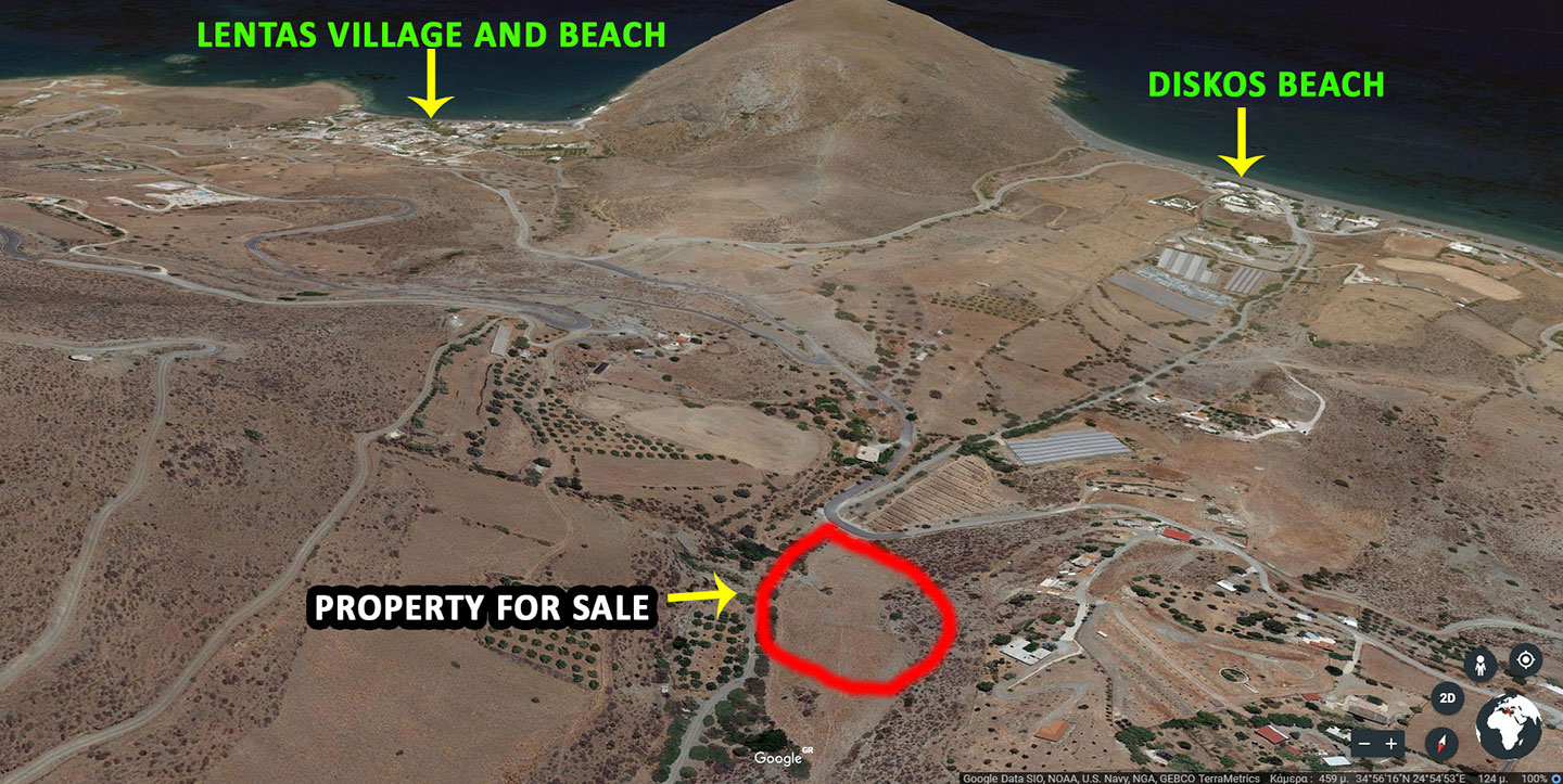 Land for sale on ledas village Crete